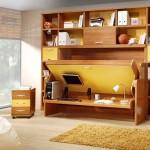 ไอเดียเฟอร์นิเจอร์ Hidden Bed เป็นทั้งโต๊ะทำงาน-ชั้นวางของ-เตียงนอน