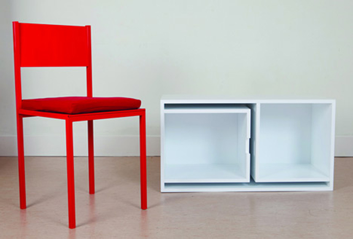 furniture save space table chair bookshelf (1)