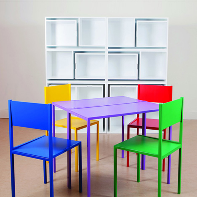 furniture save space table chair bookshelf (7)