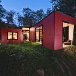 แบบบ้านชั้นครึ่งแนวคอมแพ็ค ออกแบบรูปทรงตู้คอนเทนเนอร์ สำหรับคนรุ่นใหม่