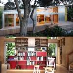 แบบบ้านตากอากาศชั้นเดียว ภายนอกใช้แผ่นเมทัลชีท ภายในตกแต่งด้วยไม้ทั้งหมด