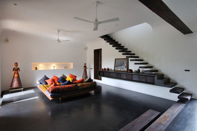house contemporary with nature in india (19)