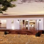แบบบ้านตู้คอนเทนเนอร์ ขนาด 2 ห้องนอน ตกแต่งภายในให้อยู่อย่างสะดวกสบาย