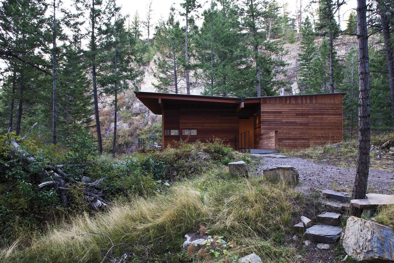 modern cabin in the wood (2)