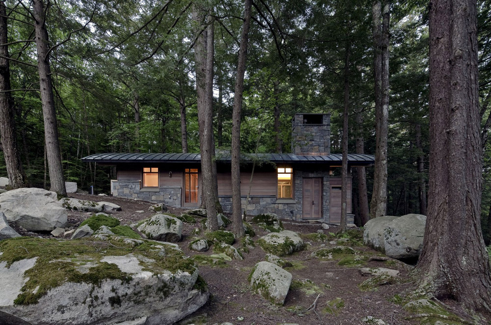 modern cabin in the wood (7)