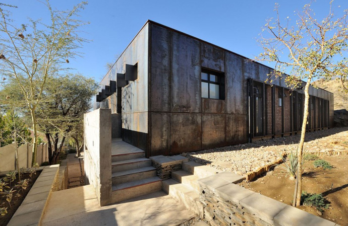 modern contemporary concrete house in namibia (5)