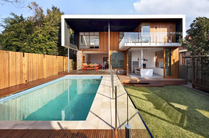 modern resident in sydney australia lawn swimming pool (1)