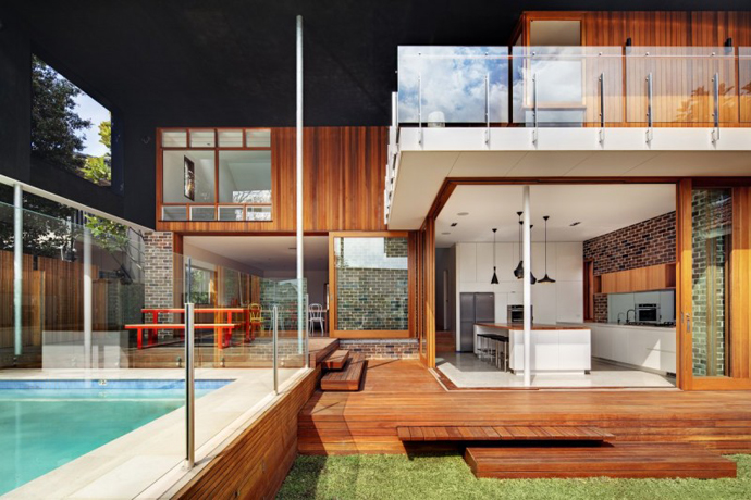 modern resident in sydney australia lawn swimming pool (10)