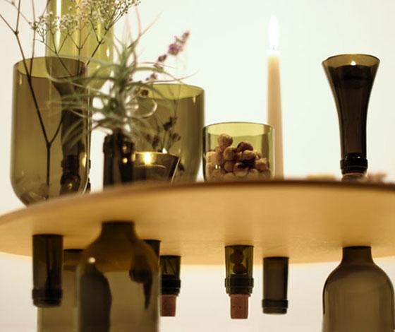 table wood glass bottles (1)