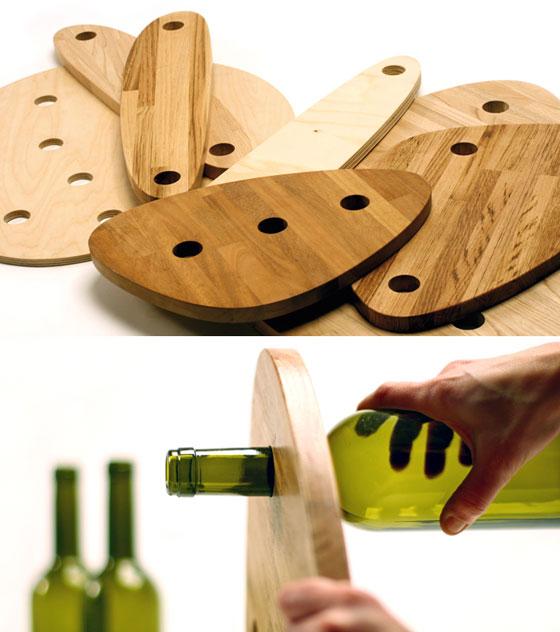 table wood glass bottles (6)