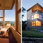 แบบบ้านอาคารสูงสามชั้น ออกแบบด้วยไม้ให้เข้ากับบรรยากาศโดยรอบ ดูหรูหราน่าอยู่