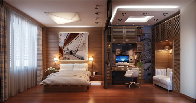 wooden wall interior decorating to warm your house (1)