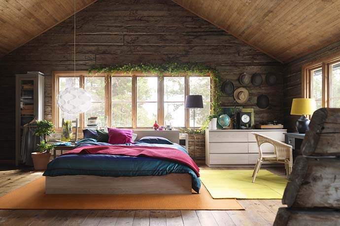 wooden wall interior decorating to warm your house (22)