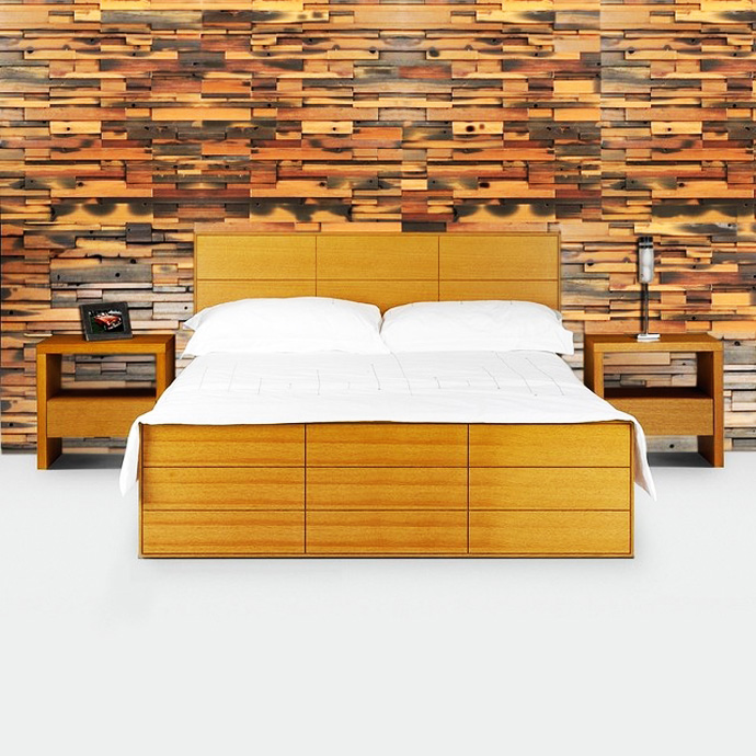 wooden wall interior decorating to warm your house (8)