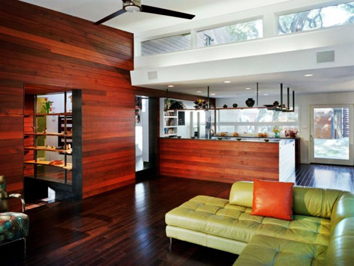 wooden wall interior decorating to warm your house (9)