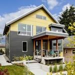 แบบบ้านทาวน์โฮม 3 ชั้นครึ่ง ตกแต่งโมเดิร์นร่วมสมัยดูโล่งตา พร้อมสวนเล็กๆโดยรอบ