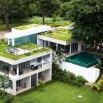 บ้านแบบวิลล่าแนวโมเดิร์นโทรปิคอล ออกแบบรูปลักษณ์ทันสมัย ใส่ธรรมชาติเข้าไปทุกส่วน