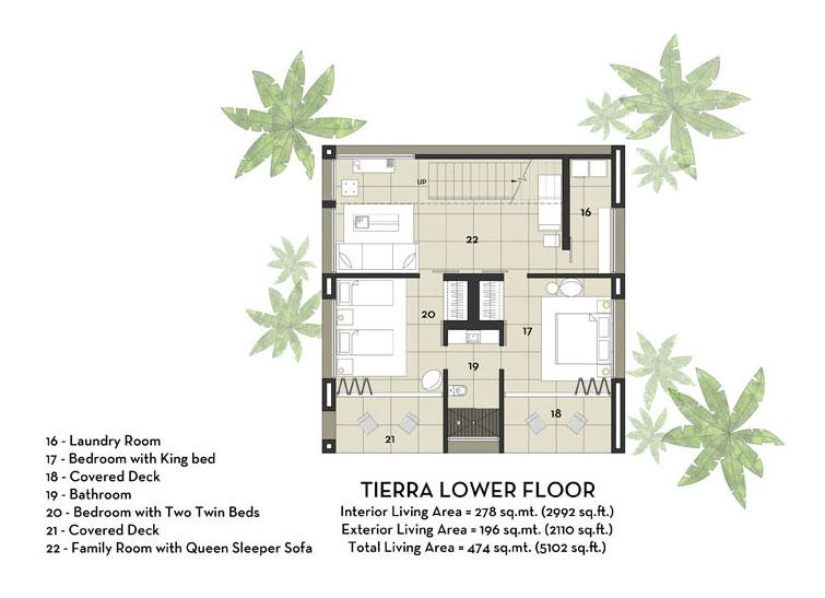 Lower-Floor-Plan-for-Luxury-Vacation-Home-in-Costa-Rica-Black-Beauty-Tierra-Villa
