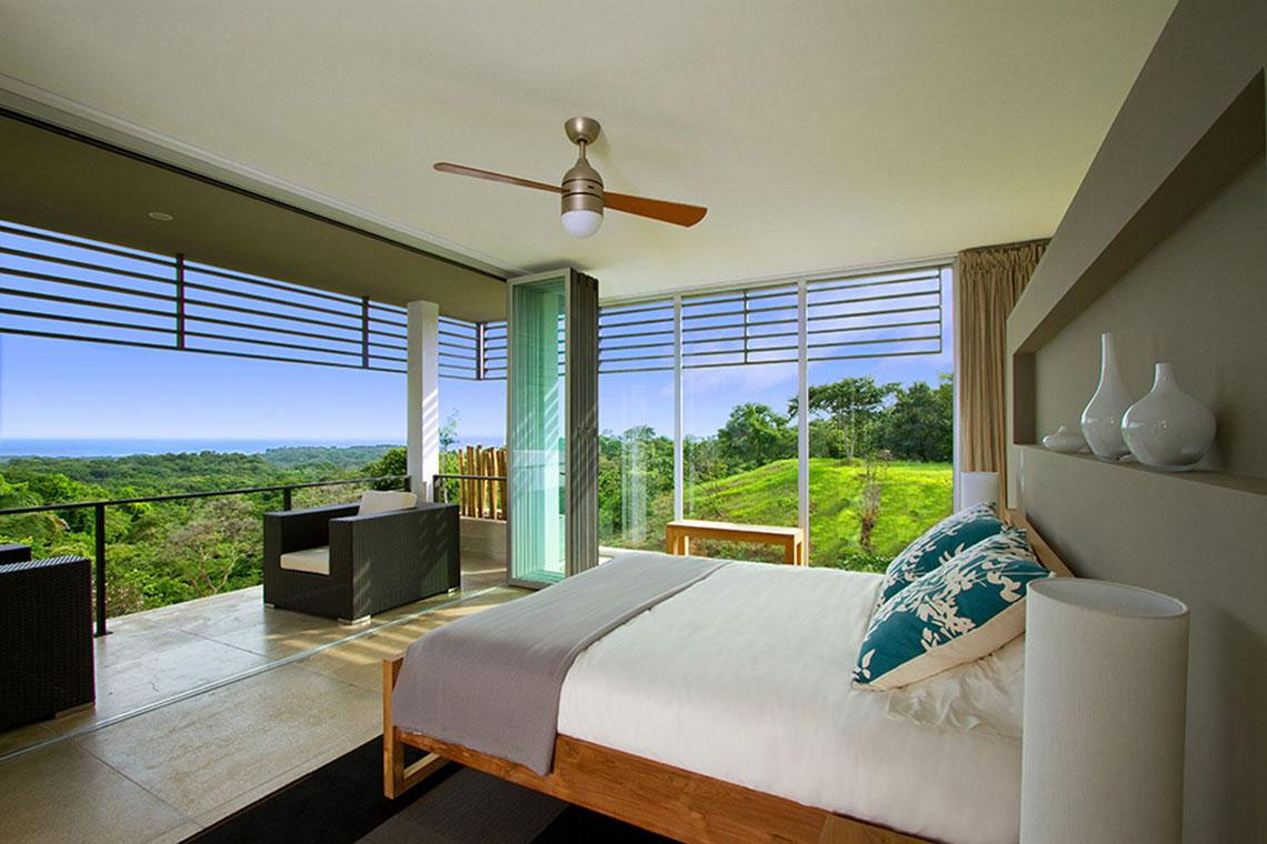 Second-Floor-Bedroom-at-Luxury-Vacation-Home-in-Costa-Rica-Black-Beauty-Tierra-Villa