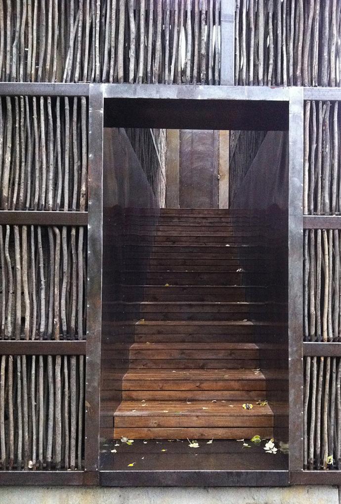 china library natural wooden loft (12)