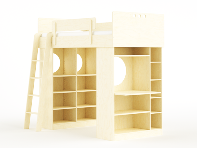 compact bed for interior idea design indoor bedroom (1)