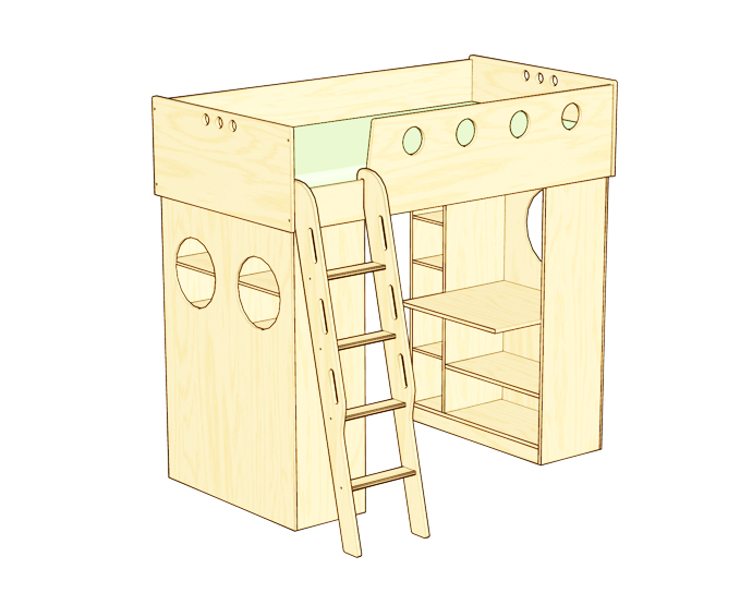 compact bed for interior idea design indoor bedroom (19)