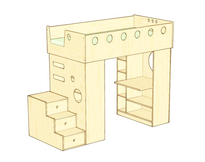 compact bed for interior idea design indoor bedroom (2)