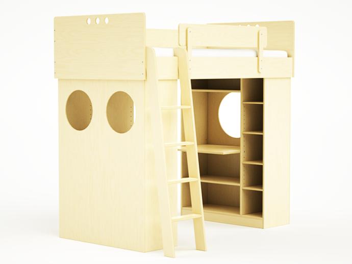 compact bed for interior idea design indoor bedroom (4)