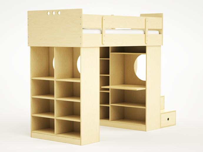 compact bed for interior idea design indoor bedroom (6)