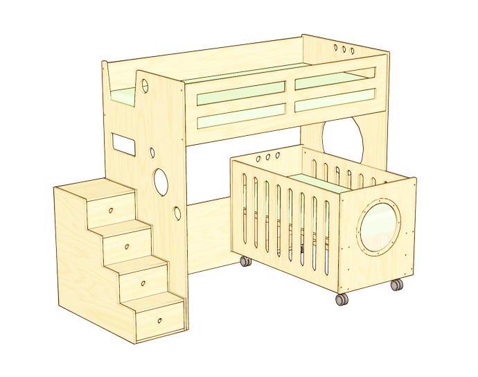 compact bed for interior idea design indoor bedroom (8)