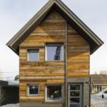 แบบบ้านสองชั้นทรงกระท่อมหลังเล็ก เพื่อรูปแบบชีวิตยุคใหม่ ในพื้นที่ขนาดจำกัด