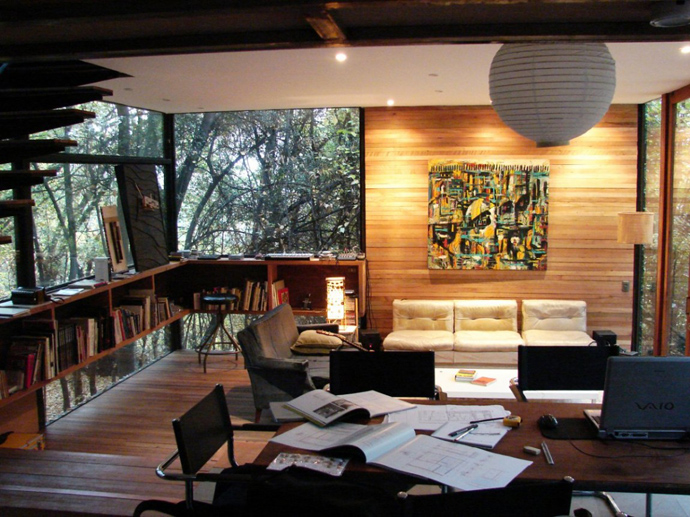 house modern contemporary in forest (21)