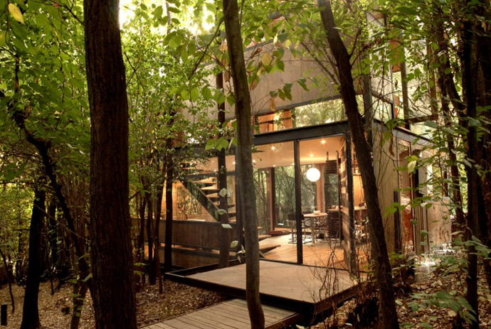 house modern contemporary in forest (22)