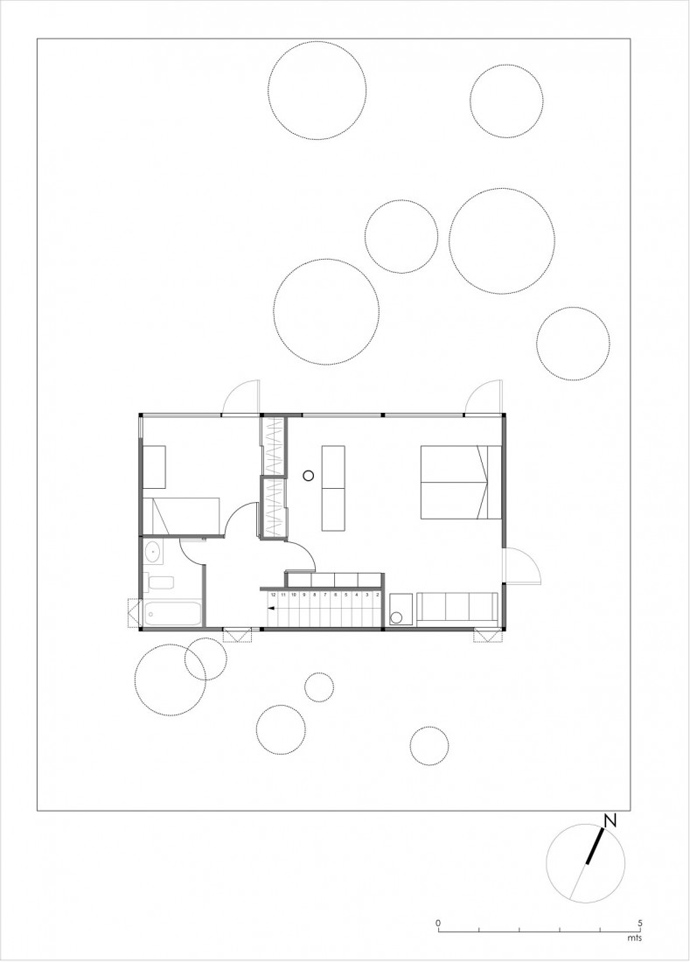 house modern contemporary in forest (9)