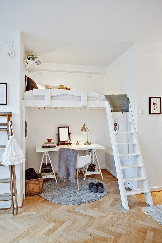 loft bright apartment room in sweden (1)