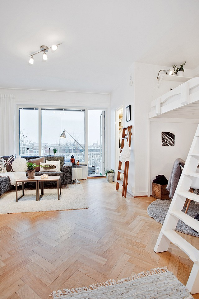 loft bright apartment room in sweden (6)
