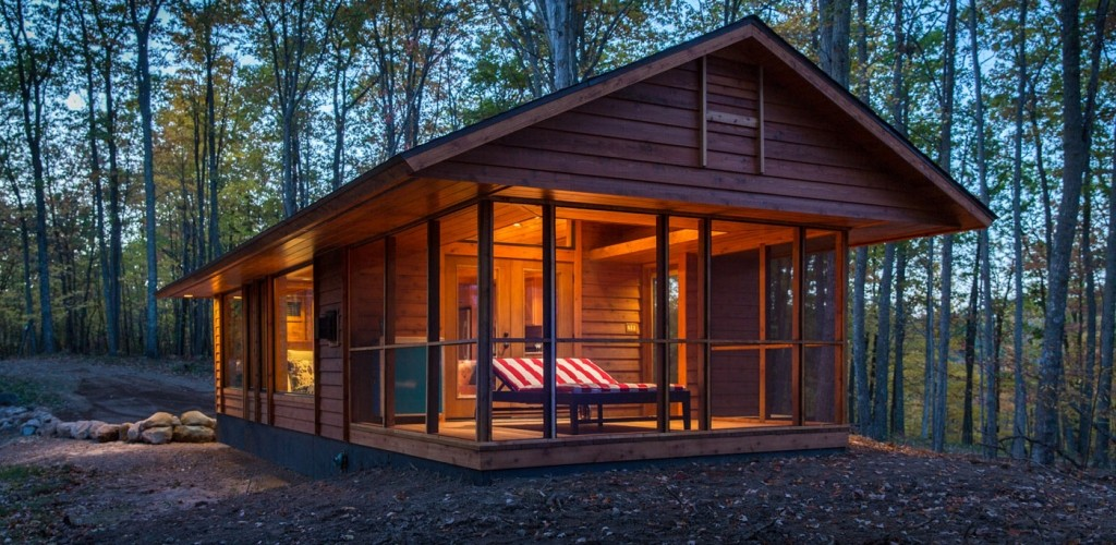 modern contemporary cottage house in forest (1)