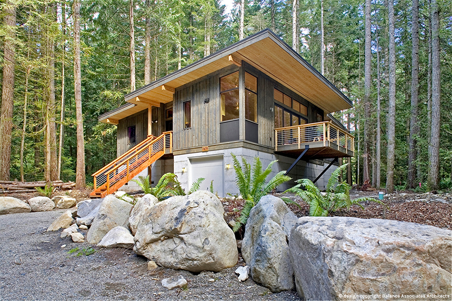 modern contemporary house forest (2)