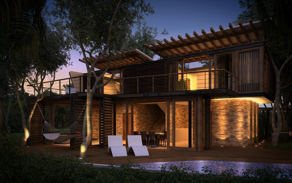 modern contemporary tropical house in mexico (6)
