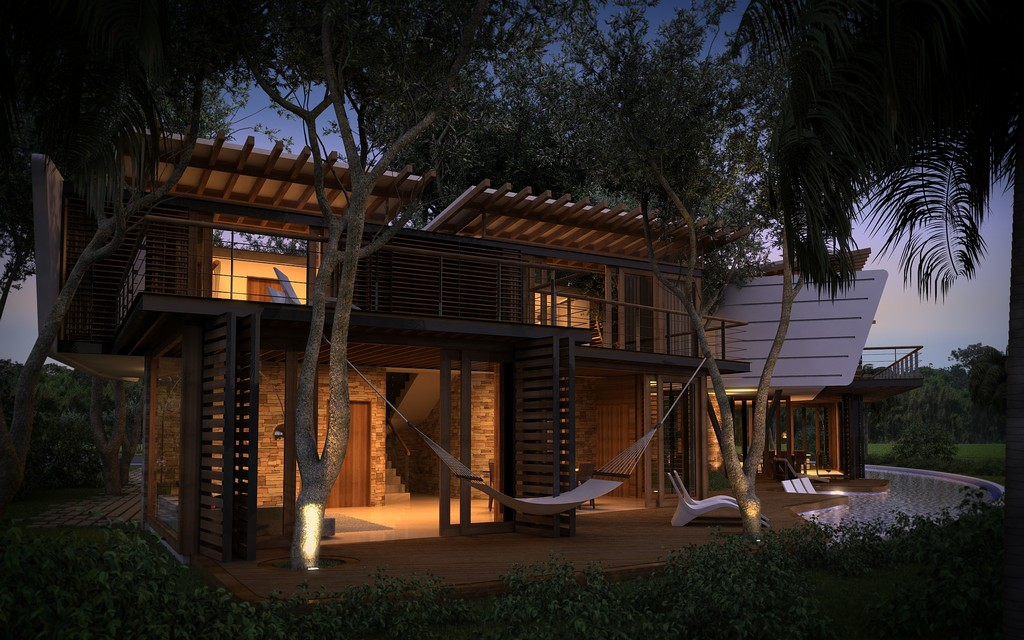 modern contemporary tropical house in mexico (7)
