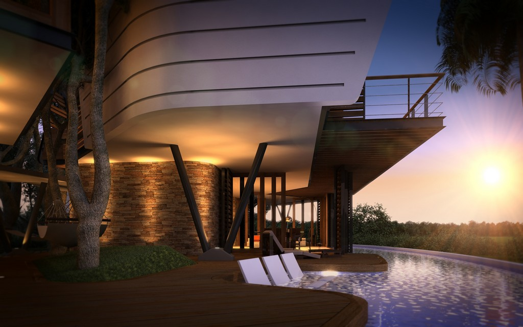 modern contemporary tropical house in mexico (8)