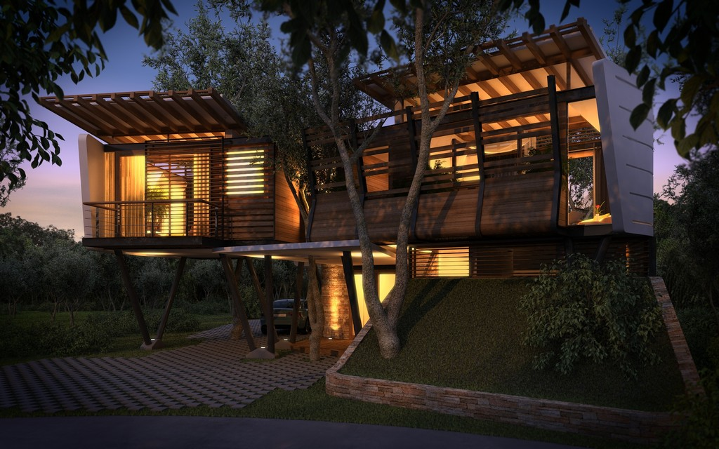 modern contemporary tropical house in mexico (9)