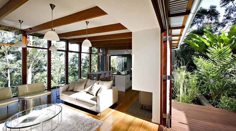 modern natural houw wooden glass steel bright (11)