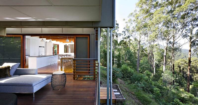 modern natural houw wooden glass steel bright (4)