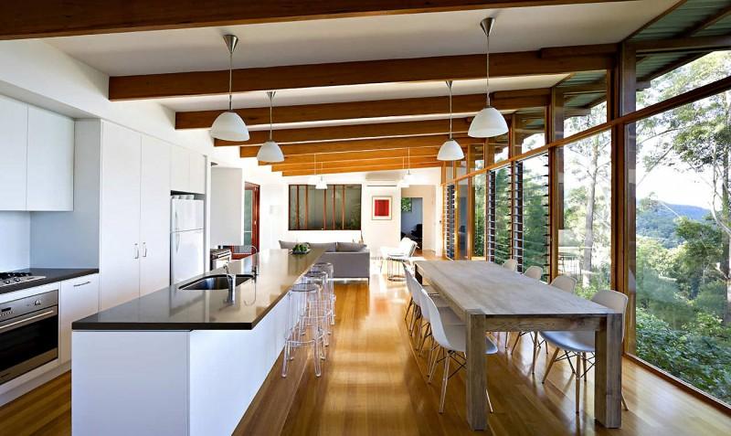 modern natural houw wooden glass steel bright (5)