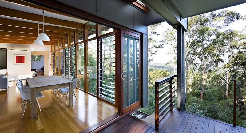 modern natural houw wooden glass steel bright (8)