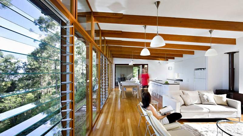 modern natural houw wooden glass steel bright (9)