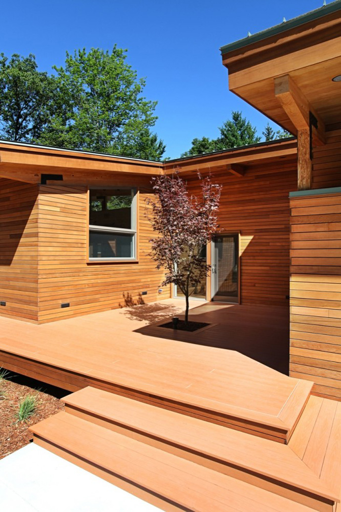 modern wood glass house for holiday life (10)