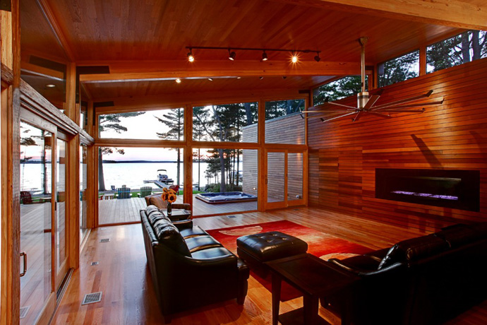 modern wood glass house for holiday life (6)
