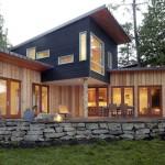แบบบ้านไม้สองชั้น ตกแต่งในรูปลักษณ์ทันสมัยดูมีเอกลักษณ์ สวยทั้งภายนอกและภายใน